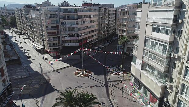 Sokağa çıkma kısıtlaması sonrası İzmir'de sessizlik