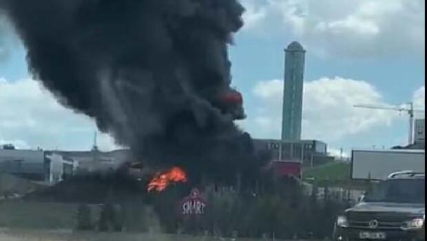 Son dakika… Ankara'da boya fabrikasında yangın