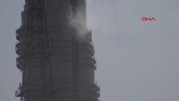 Son dakika haberler… Çamlıca kulesinde yangın!