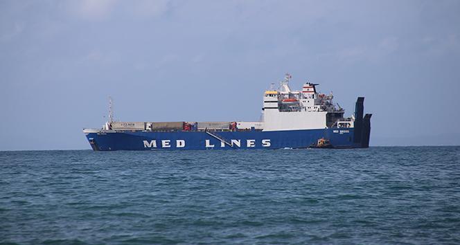 Türk şoförlerini getiren gemi İskenderun Körfezine ulaştı