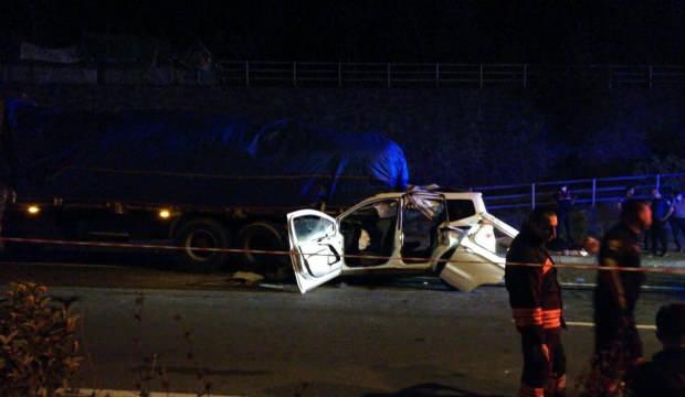 Trabzon'da trafik kazası: 4 kişi öldü