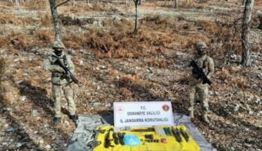 Amanos Dağları'nda terör örgütü PKK'nın inleri dağıtıldı