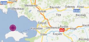 İzmir açıklarında 4.5 büyüklüğünde deprem