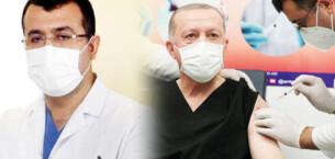 Sosyal medya onu konuşuyor! Erdoğan'a aşı yapan doktor…