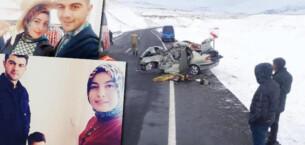 Erzurum'da feci kaza! Çok acı haber… Uzman çavuş, eşi ve oğlu öldü