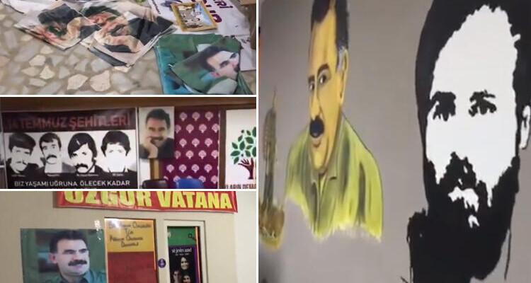 HDP binasında skandal görüntüler…