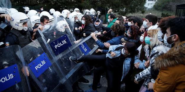 Polise mukavemet ederek taşkınlık çıkarttılar!