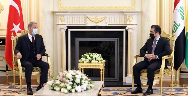 Akar, Barzani ile görüştü: PKK ortak düşman
