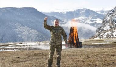 İlham Aliyev, Şuşa'da Nevruz ateşini yaktı