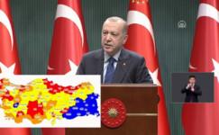 Erdoğan yeni koronavirüs kararlarını açıkladı! Renk sırasıyla normalleşme başlıyor