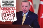Cumhurbaşkanı Erdoğan: Kıbrıs'ta iki ayrı devlet olmalı