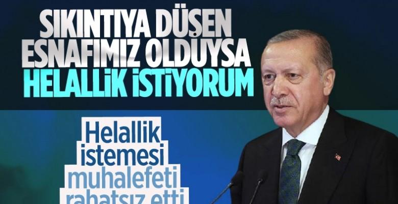 Cumhurbaşkanı Erdoğan'ın helallik istemesi muhalefetin tek gündemi oldu