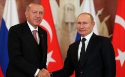 Cumhurbaşkanı Erdoğan, Vladimir Putin ile görüştü