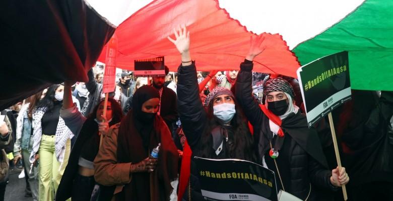 Londra'da Filistin'e destek eylemi