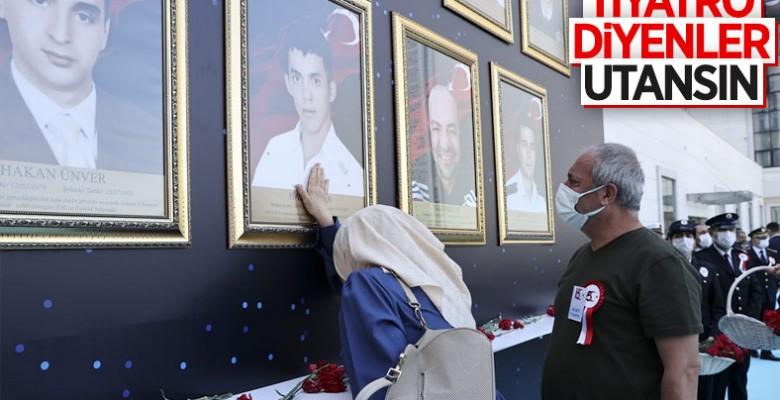 Darbecilerin vurduğu Ankara İl Emniyet Müdürlüğü'nde tören