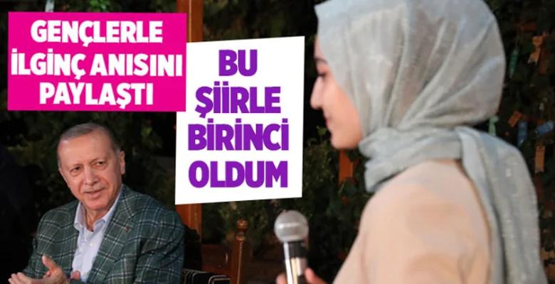 Cumhurbaşkanı Erdoğan, Kahramanmaraş'ta gençlerle şiir gecesinde buluştu