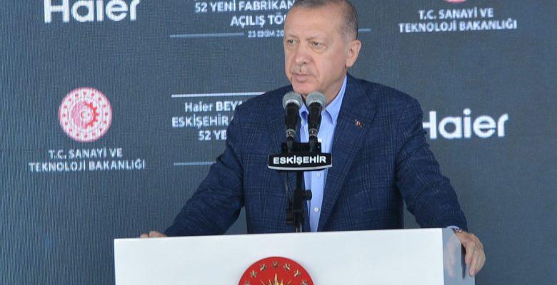 Cumhurbaşkanı Erdoğan 52 fabrikanın açılışını gerçekleştirdi
